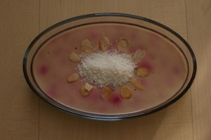 Pink dessert