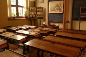 Lokaal in het onderwijsmuseum